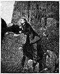 Victor Hugo amongst the rocks at Jersey