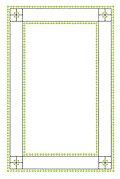 Lines and Leaves Page Border
