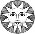 [picture: Plate XLIII.---Astronomy.---Detail--Smiling Sun.]