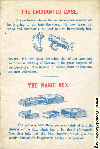[Picture: Page 1: The Enchanted Case and The Magic Box.]