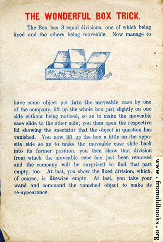[Picture: Page 5: The Wonderful Box Trick]