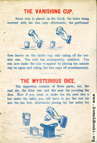[Picture: Page 6: The Vanishing Cup; The Mysterious Dice.]