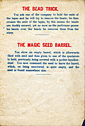 [picture: Page 4: The Bead Trick and The Magic Seed Barrel.]
