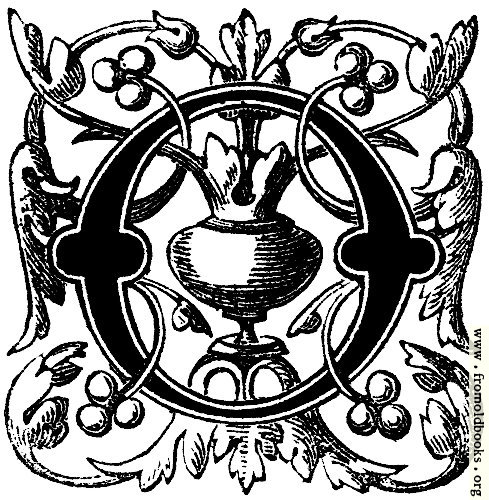 [Picture: Decorative initial letter O, Floriated]