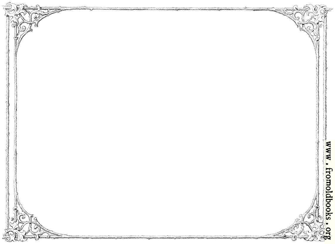 Free clip-art: Victorian border of twigs and leaves ...