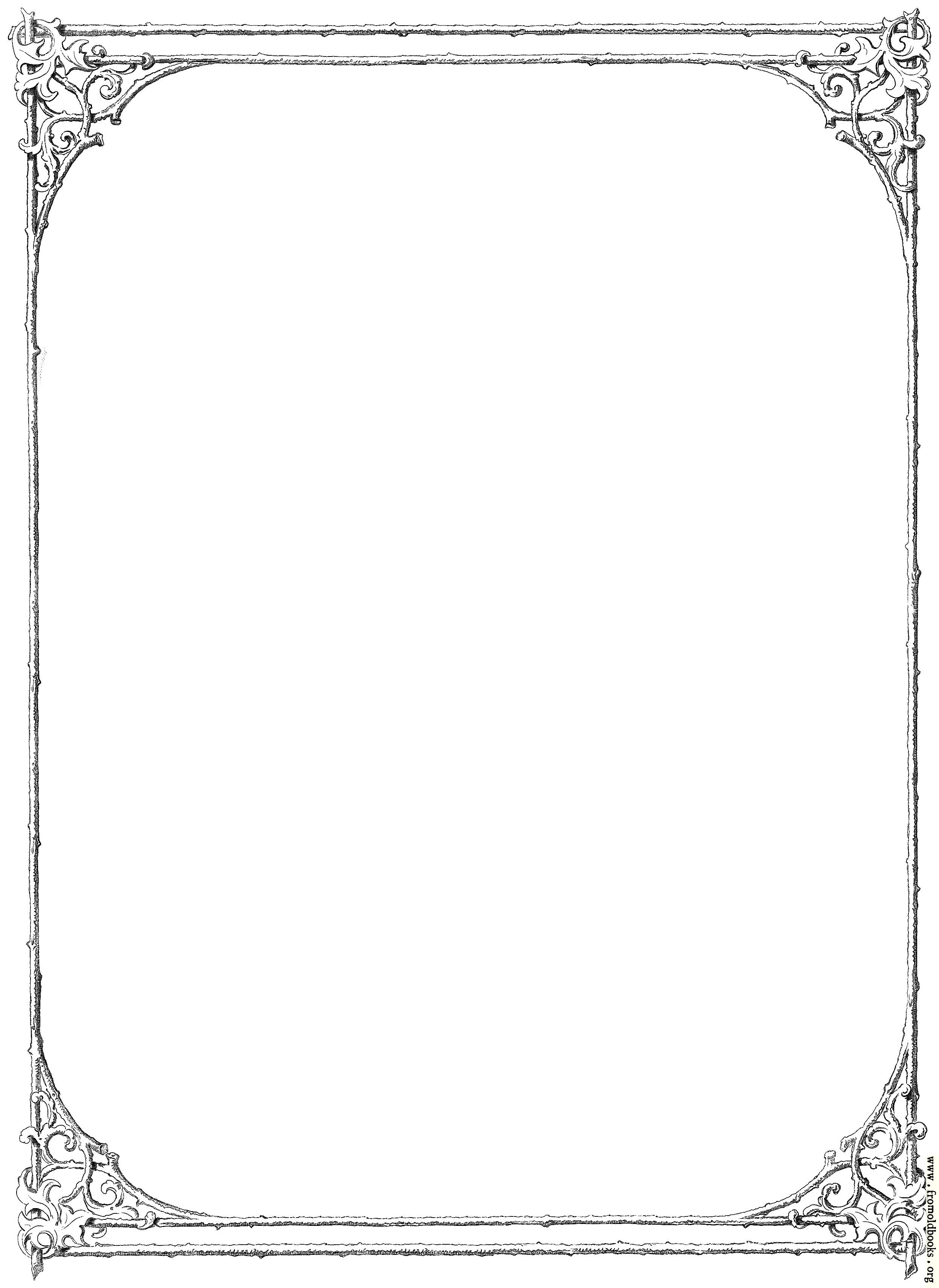 Free Clip Art Victorian Border Of Twigs And Leaves Simplified intended for Clip Art Victorian Borders