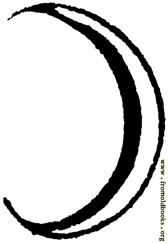 [Picture: Astrological symbols for Monday: Planetary Sign for the Moon]
