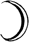 Astrological symbols for Monday: Planetary Sign for the Moon