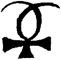[picture: Astrological symbols for Wednesday: Planetary Sign for Mercury]
