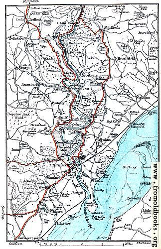 [Picture: Map: River Wye, Chepstow, etc.]