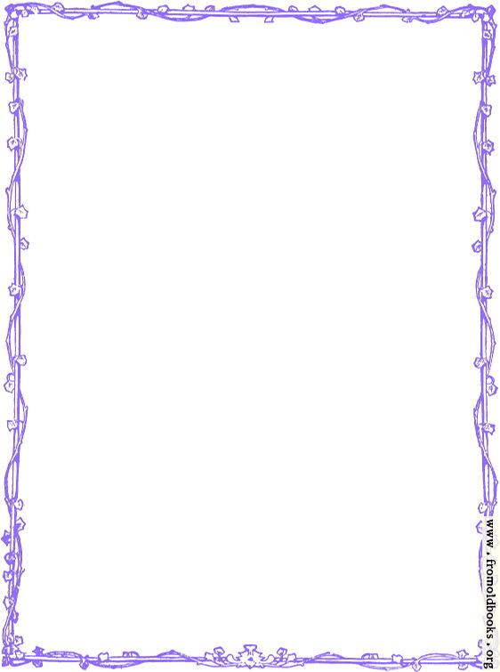Purple Victorian Vine Leaf Border