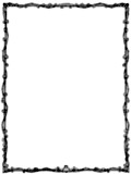 Full-page border with ivy