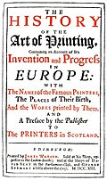 [picture: Title page from Watson's History of Printing]