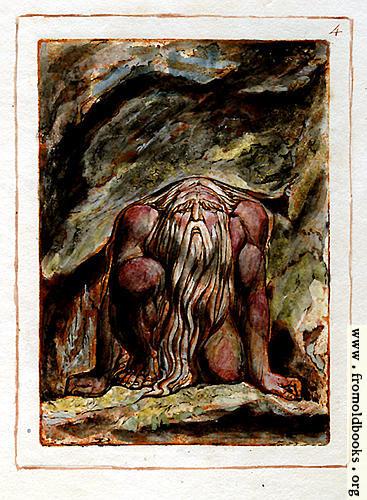[Picture: 4.—Urizen kneels.]
