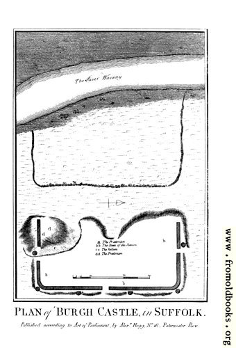 [Picture: Plan of Burgh Castle in Suffolk.]