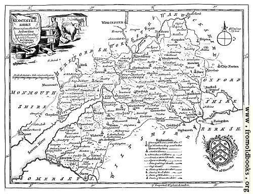 [Picture: Eighteenth-Century Map of Gloucestershire]