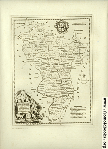 [Picture: Antique Map of Derbyshire]