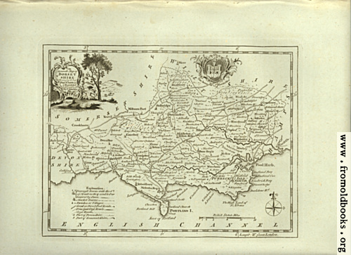 [Picture: Antique Map of Dorsetshire]