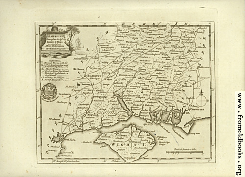 [Picture: Antique Map of Hampshire]