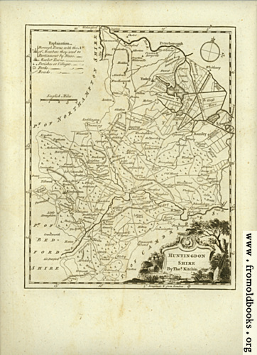 [Picture: Antique Map of Huntingdonshire]