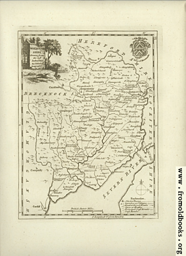 [Picture: Antique Map of Monmouthshire]