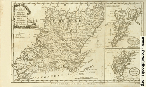 [Picture: Antique Map of Orkney, Cathness, Sutherland, Ross and Cromarty]