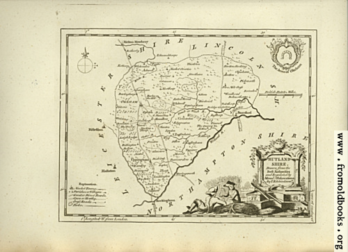 [Picture: Antique Map of Rutlandshire]