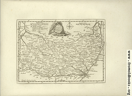 [Picture: Antique Map of Suffolk]