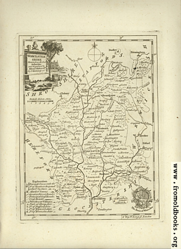 [Picture: Antique Map of Worcestershire]