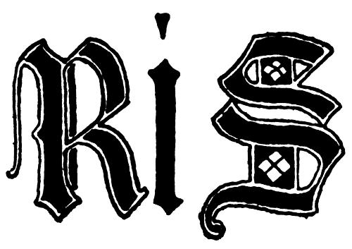 Letters R and S from English gothic Letters, 15th Centurydetails