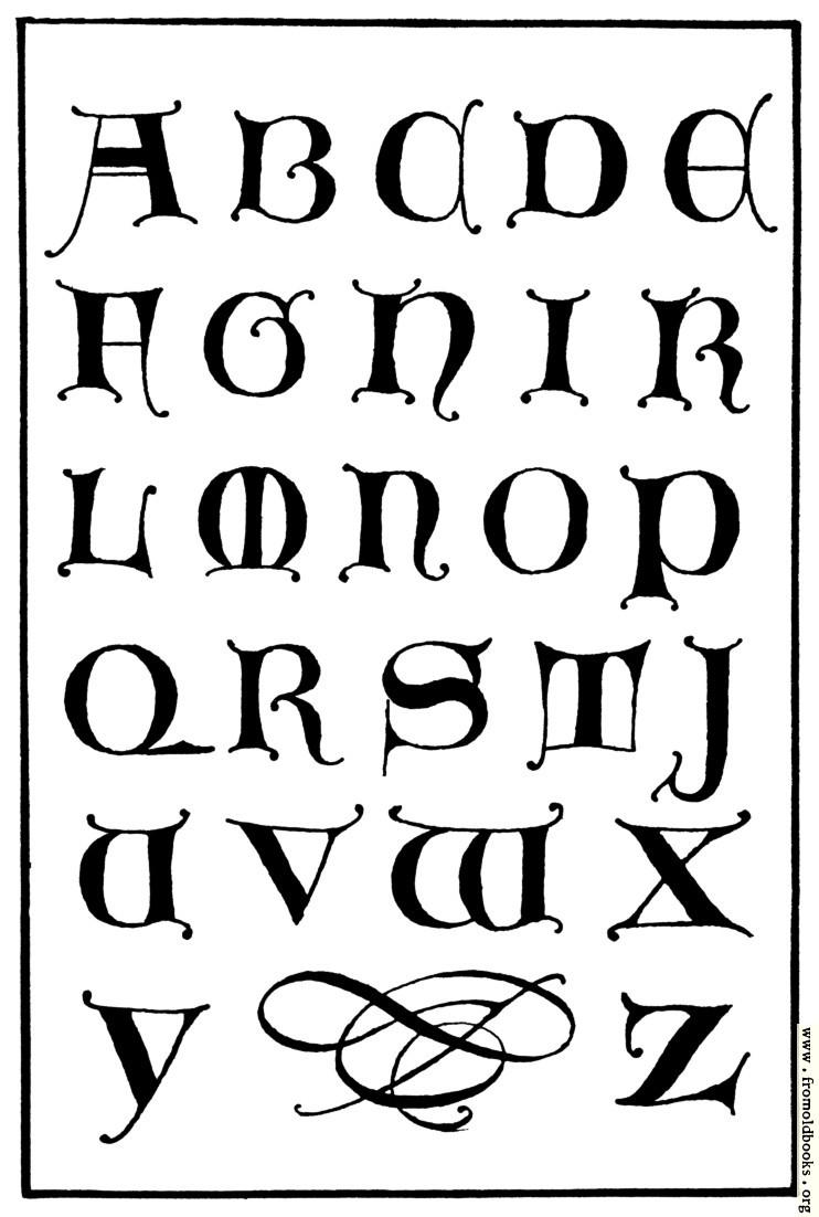 Uncial gothic capitals th century