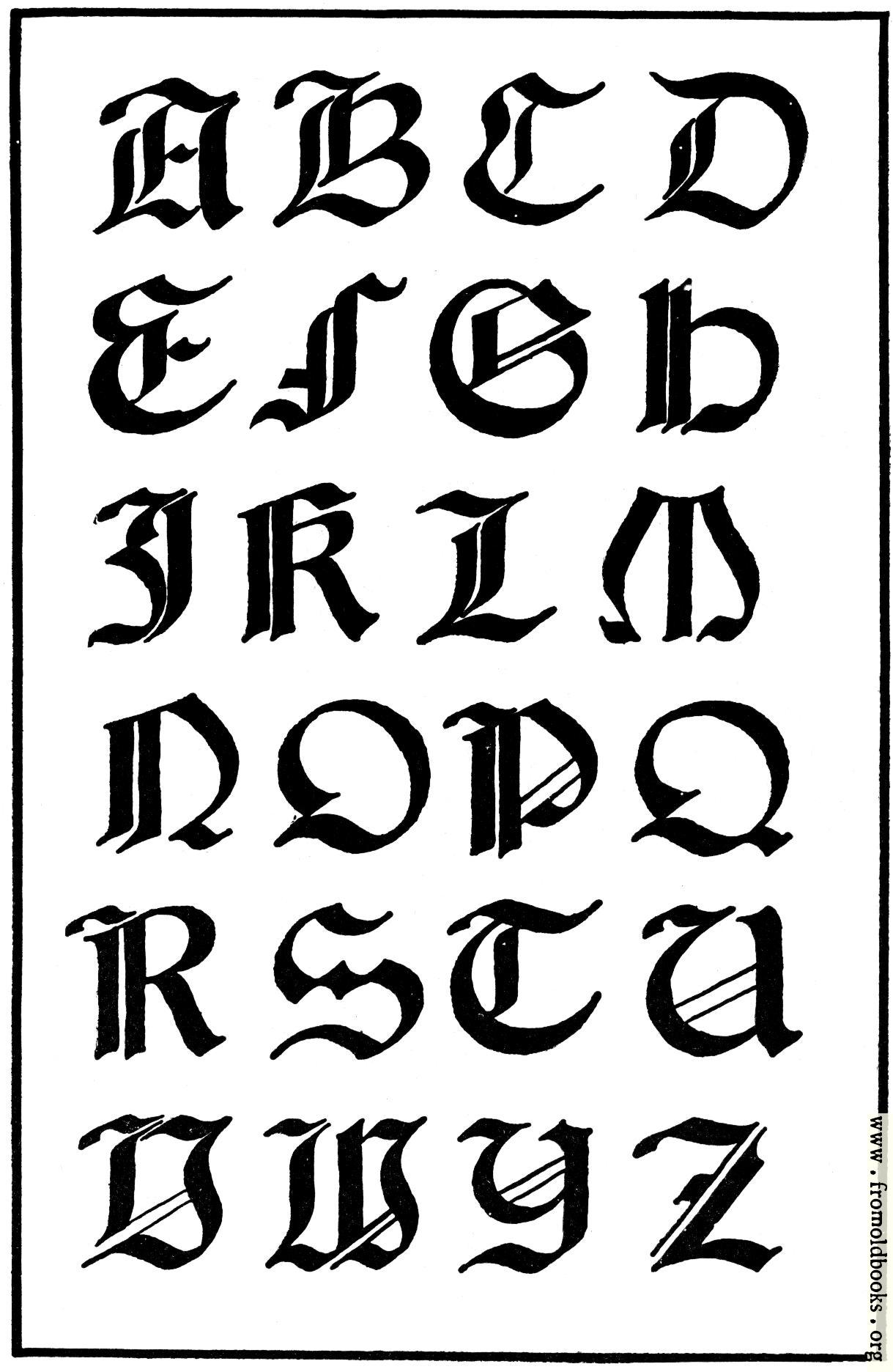 Писать готическим шрифтом онлайн 10 фотография