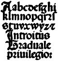 141.Italian Round Gothic Small Letters.  16th Century.