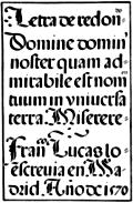 143.Spanish Round Gothic Letters.  Francisco Lucas, 1577