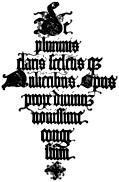 147. Italian Blackletter Title-Page.  Jacopus Foresti, 1497.