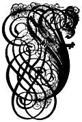 German Gothic Initials - Swirly Fraktur Blackletter Initial Letter F