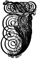 [picture: German Gothic Initials - Swirly Fraktur Blackletter Initial Letter J]