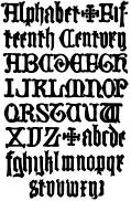 178. English Gothic Letters.  15th Century.  F.C.B.