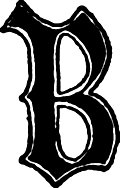 [picture: Calligraphic letter ``B'' in 15th century gothic style]