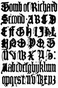 179.English gothic Letters, 15th Century.  F.C.B.