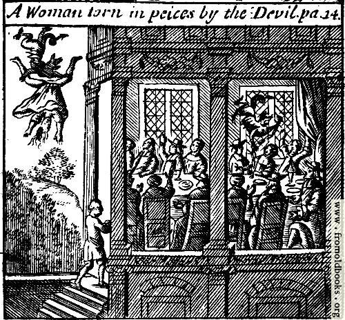 [Picture: A Woman torn in peices by the Devil. pa. 14.]