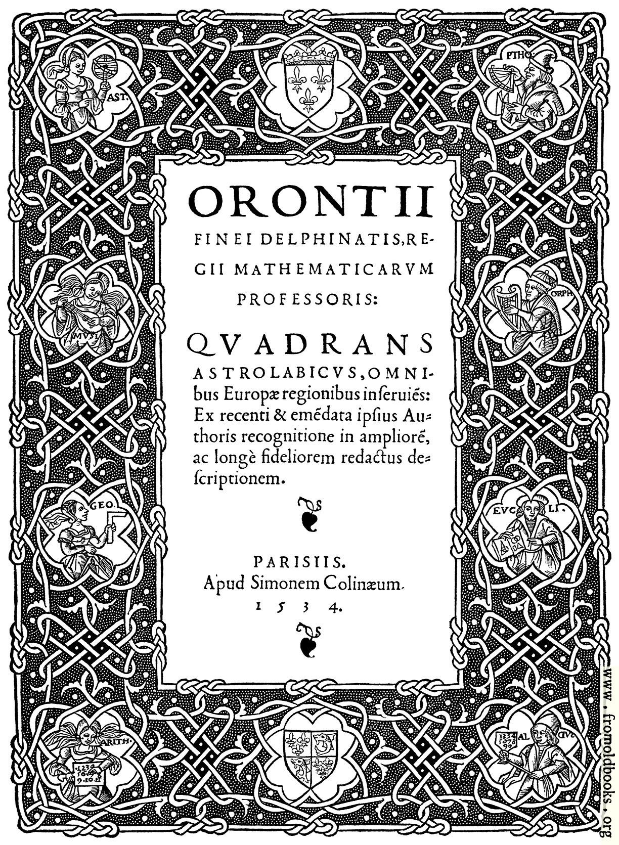 title page orontii quadrans astrolabicus omnibus 1224x1671 903k