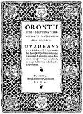 [picture: 6. Title Page: Orontii Quadrans Astrolabicus Omnibus]