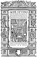 [picture: 8.---Title Page from De Studio Literarum (1536)]