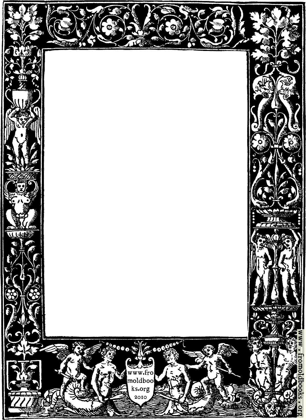 Frames B W Frame Featuring Ornate Beautiful Vintage