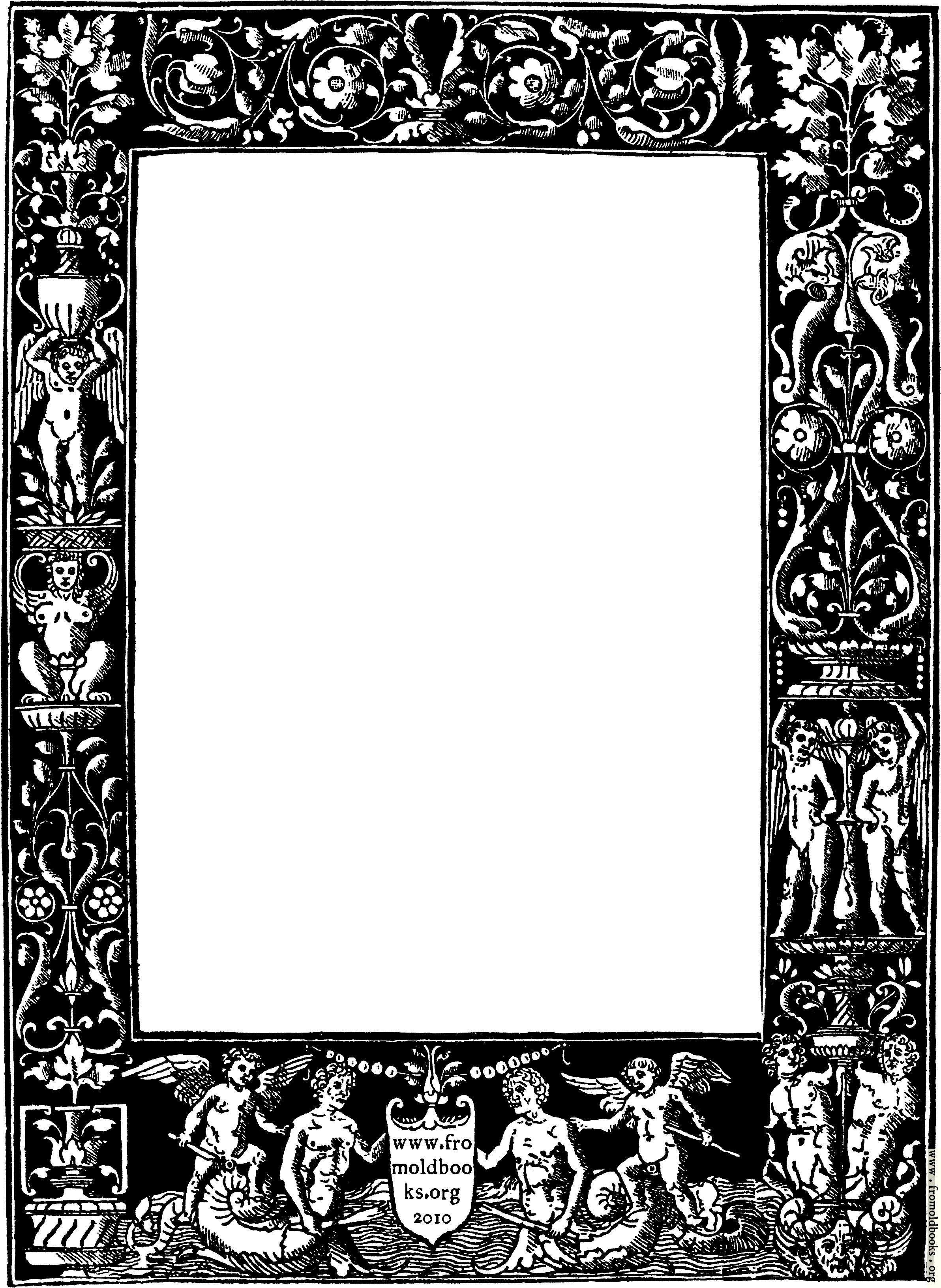 ornate border from title page black version 2384x3263 1m