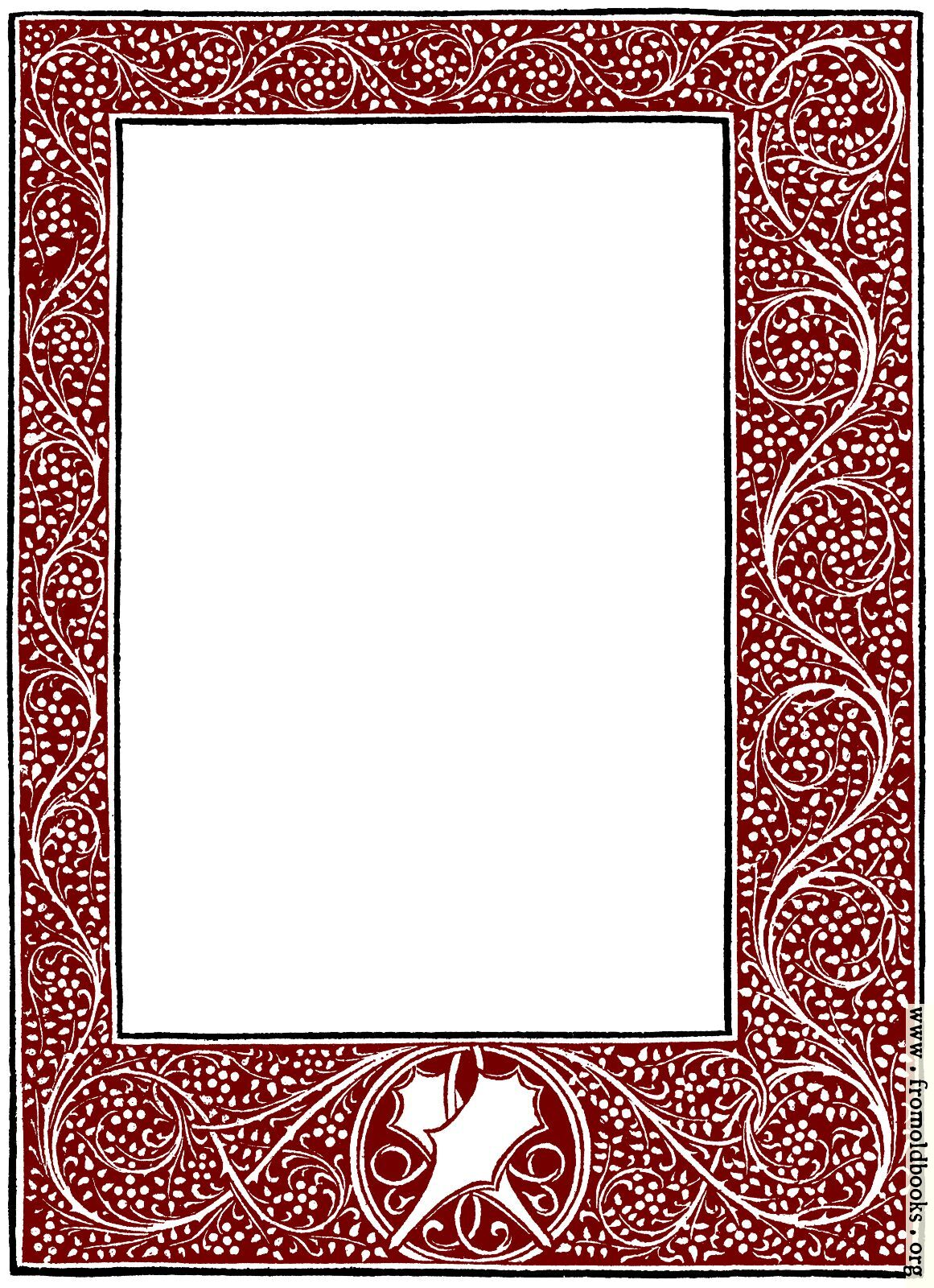 Full-page foliated border from 1478.