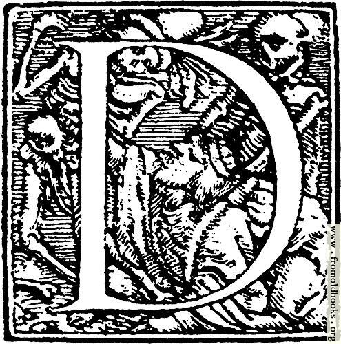 "[Picture: 62d.—Initial capital letter ""D"" from Dance of Death Alphabet]"
