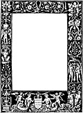 Ornate border from 1878 Title Page (black version)