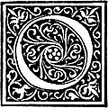 [picture: Foliated Decorative Capital Letter ``O'']